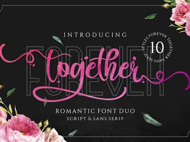 Forever Together шрифт скачать бесплатно
