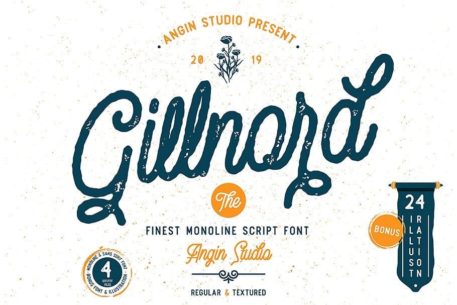 Gillnord шрифт скачать бесплатно