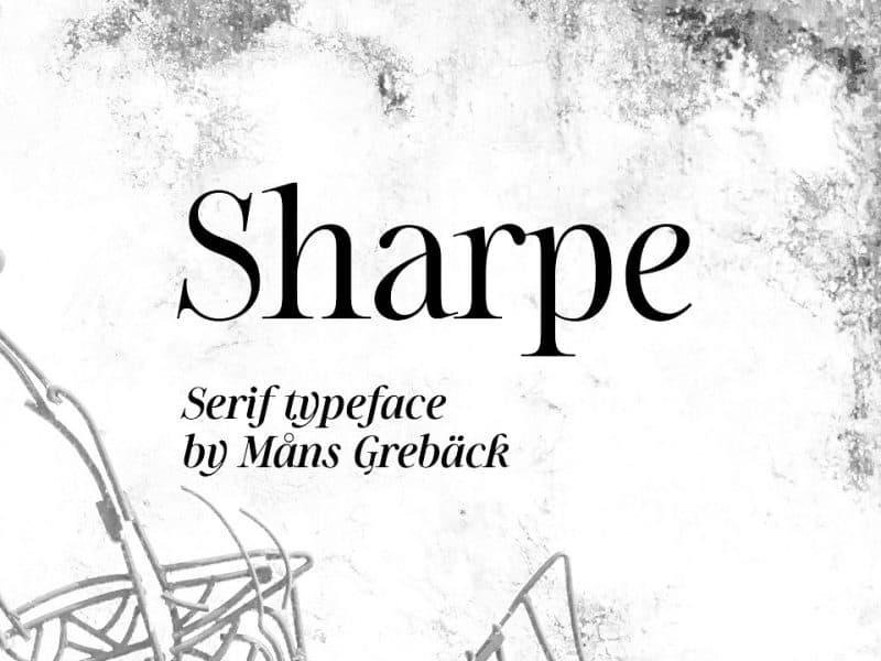 Sharpe шрифт скачать бесплатно