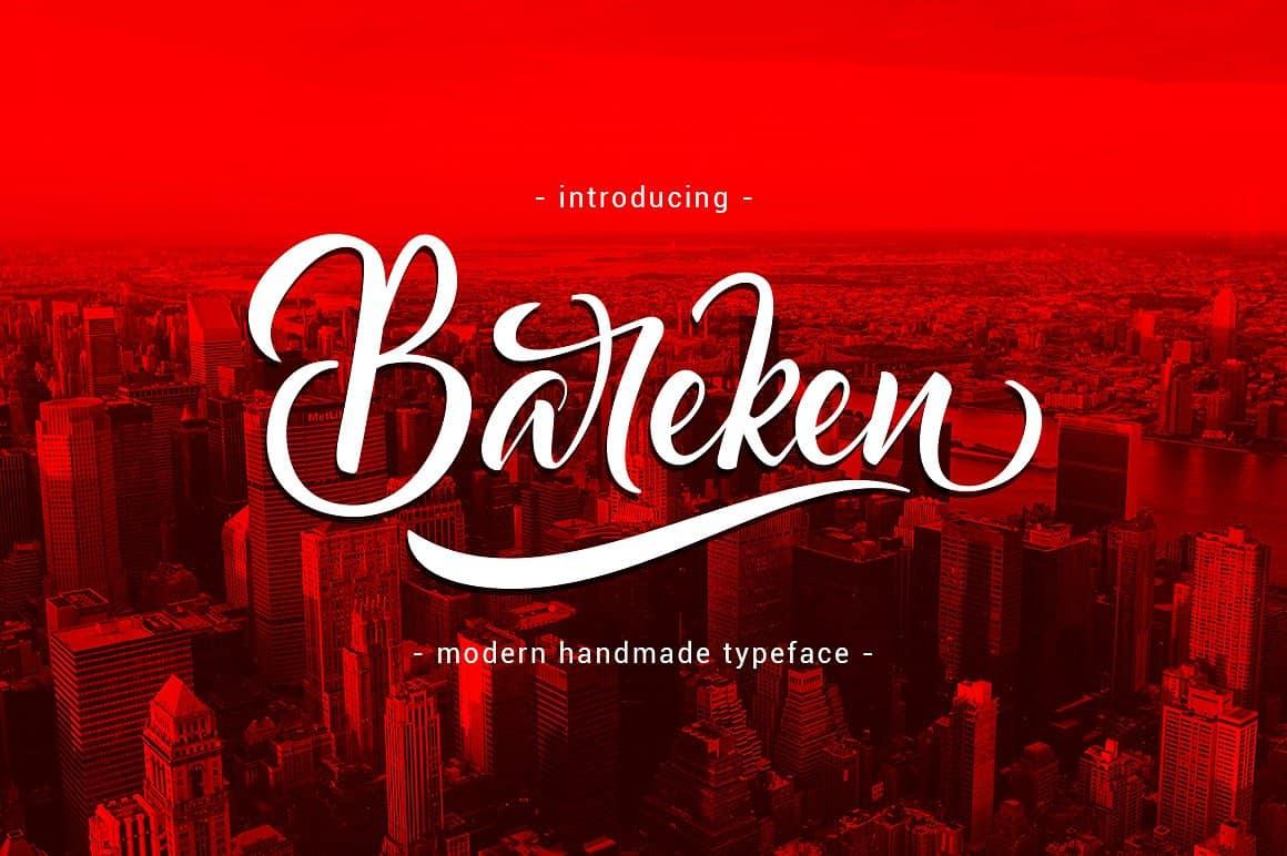 Bareken шрифт скачать бесплатно
