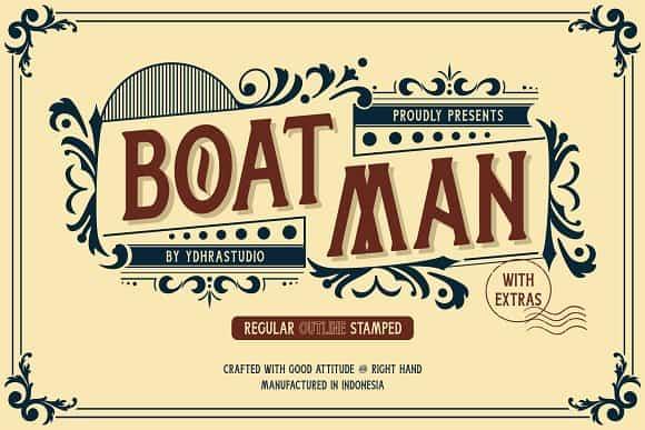 Boatman шрифт скачать бесплатно