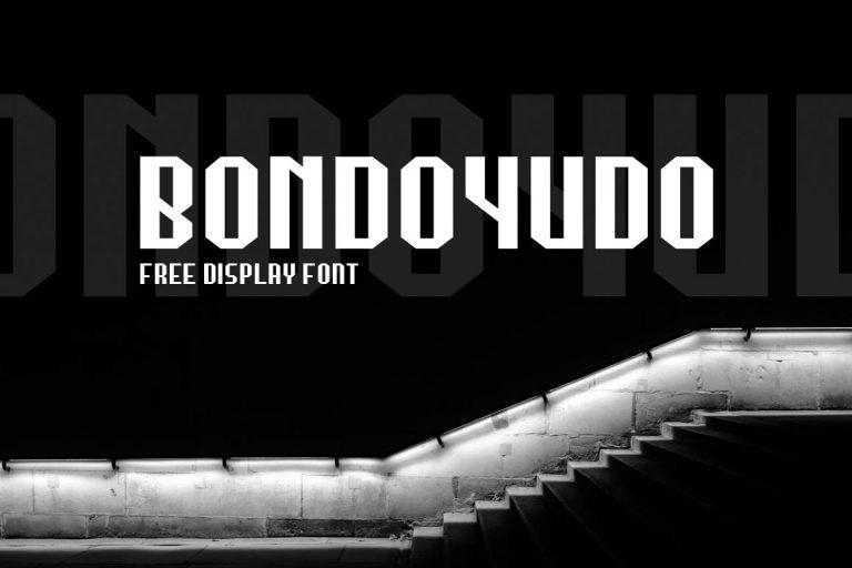 Bondoyudo шрифт скачать бесплатно