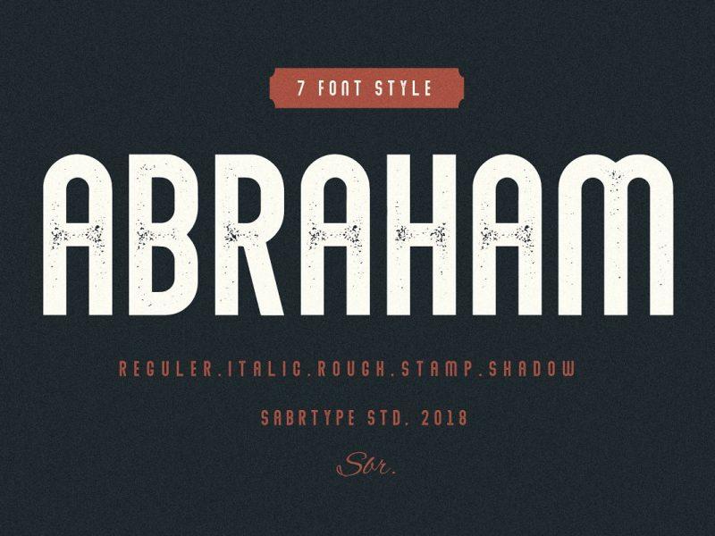 Abraham шрифт скачать бесплатно