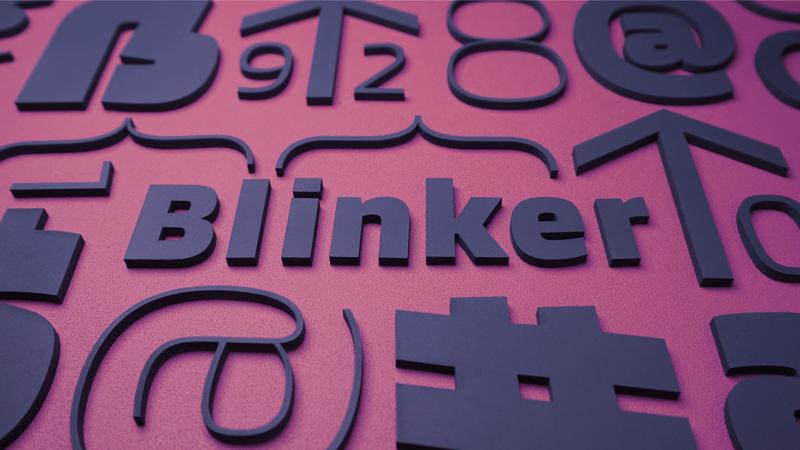 Blinker шрифт скачать бесплатно