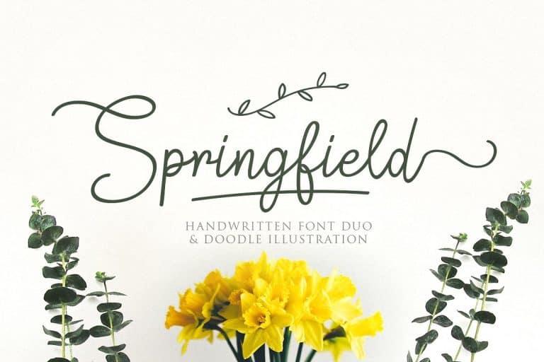 Springfield шрифт скачать бесплатно