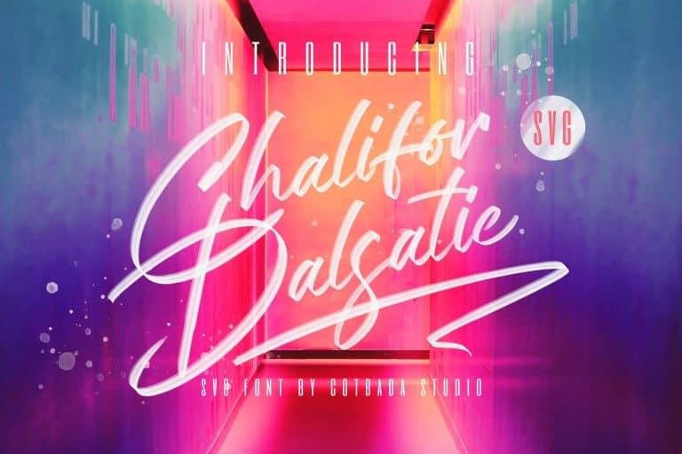 Chalifor Dalsatic шрифт скачать бесплатно