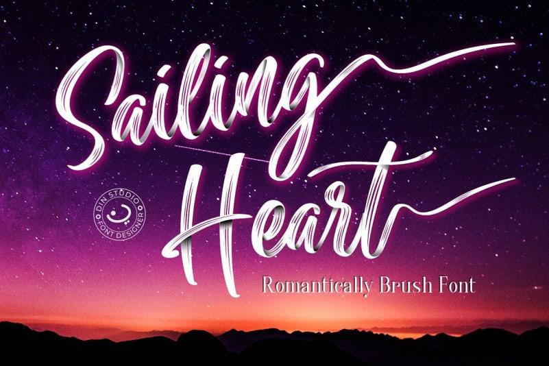 Sailing Heart шрифт скачать бесплатно