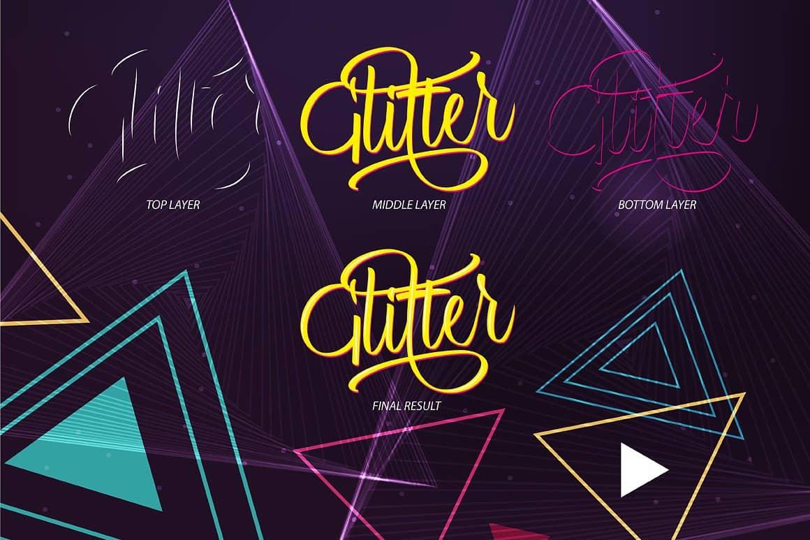 Glitter шрифт скачать бесплатно