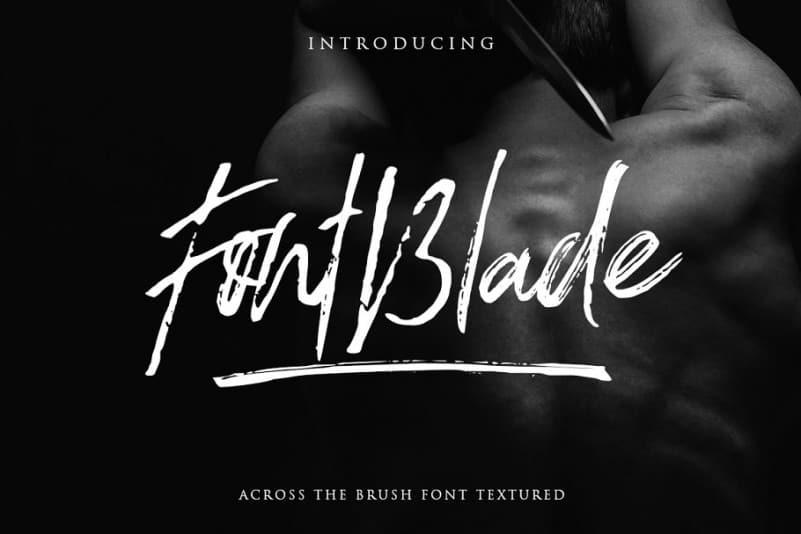 Blade шрифт скачать бесплатно