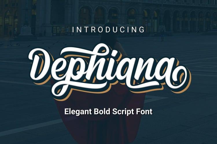 Dephiana шрифт скачать бесплатно