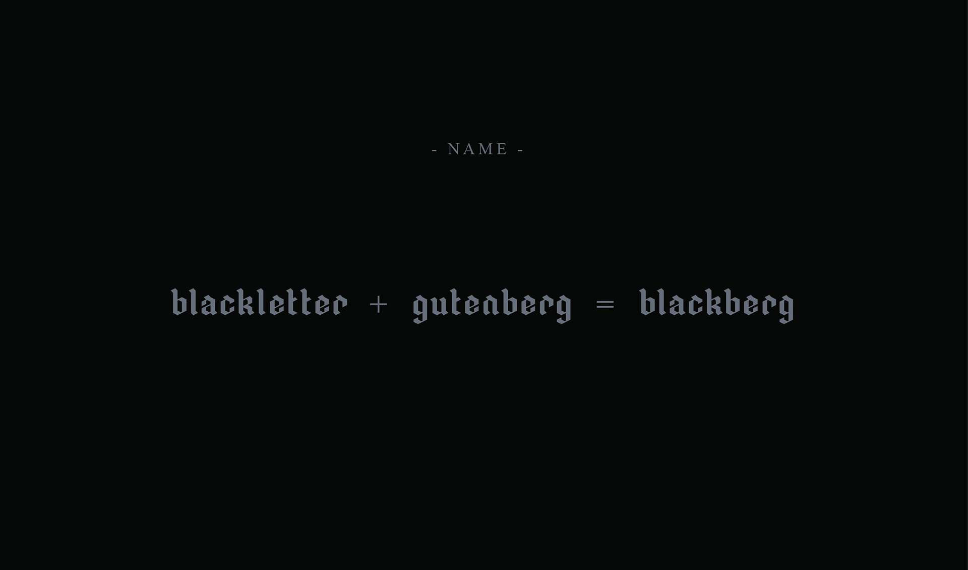 BLACKBERG шрифт скачать бесплатно