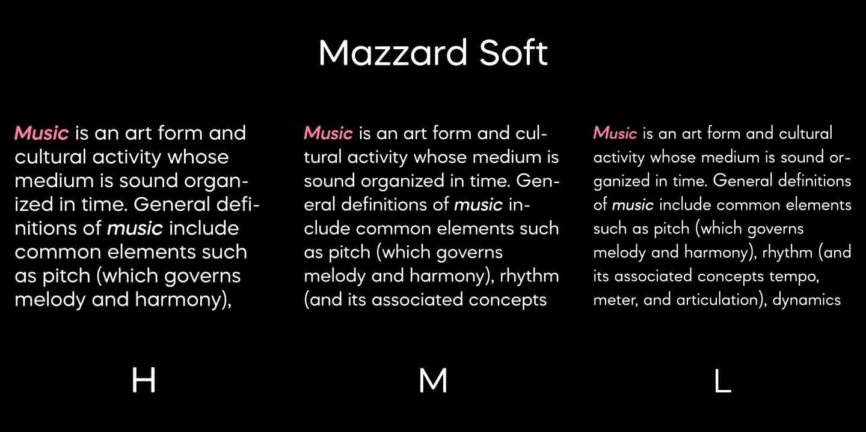 Mazzard Soft M Light шрифт скачать бесплатно