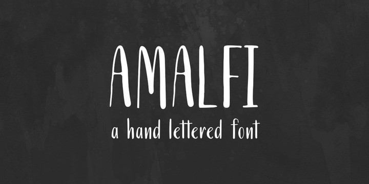 Amalfi шрифт скачать бесплатно