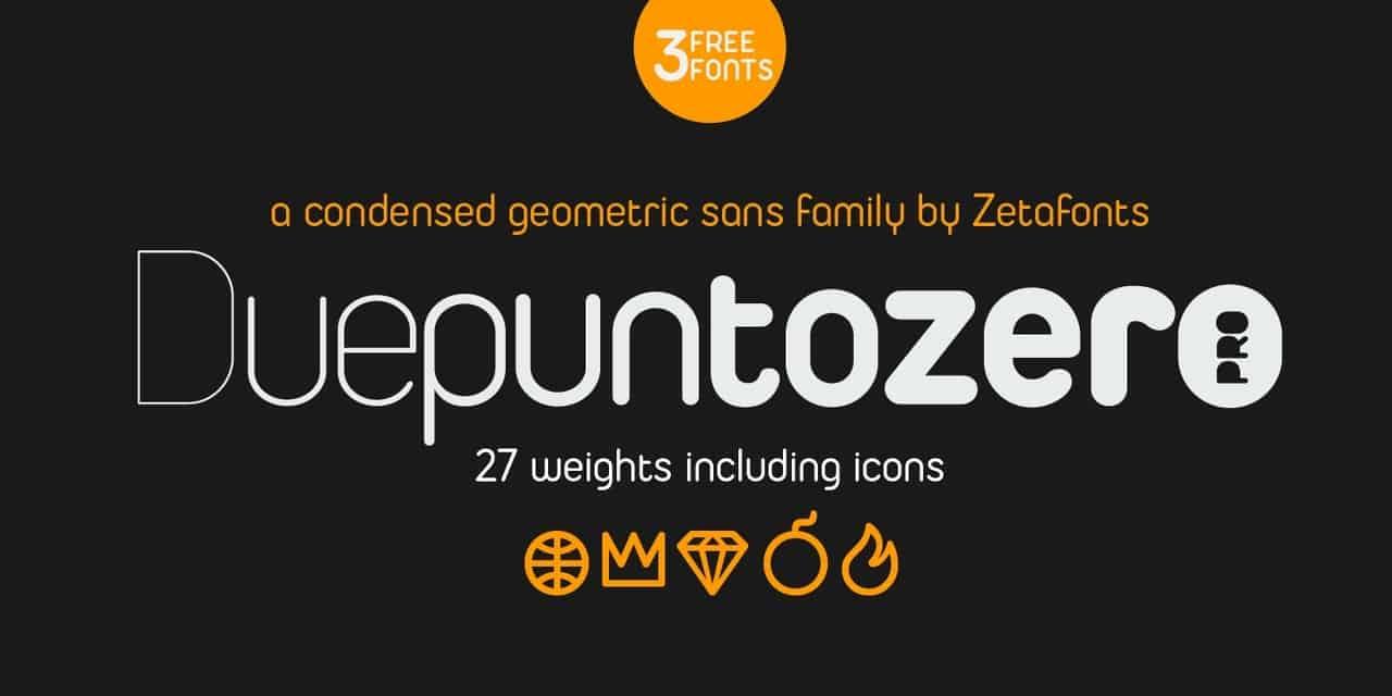 Duepuntozero Pro шрифт скачать бесплатно