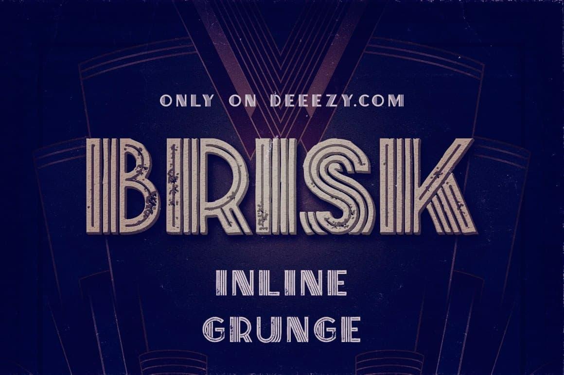 BriskInline Grunge шрифт скачать бесплатно