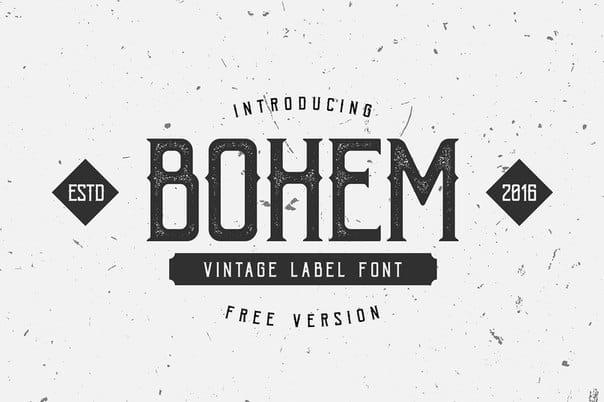 bohem press шрифт скачать бесплатно