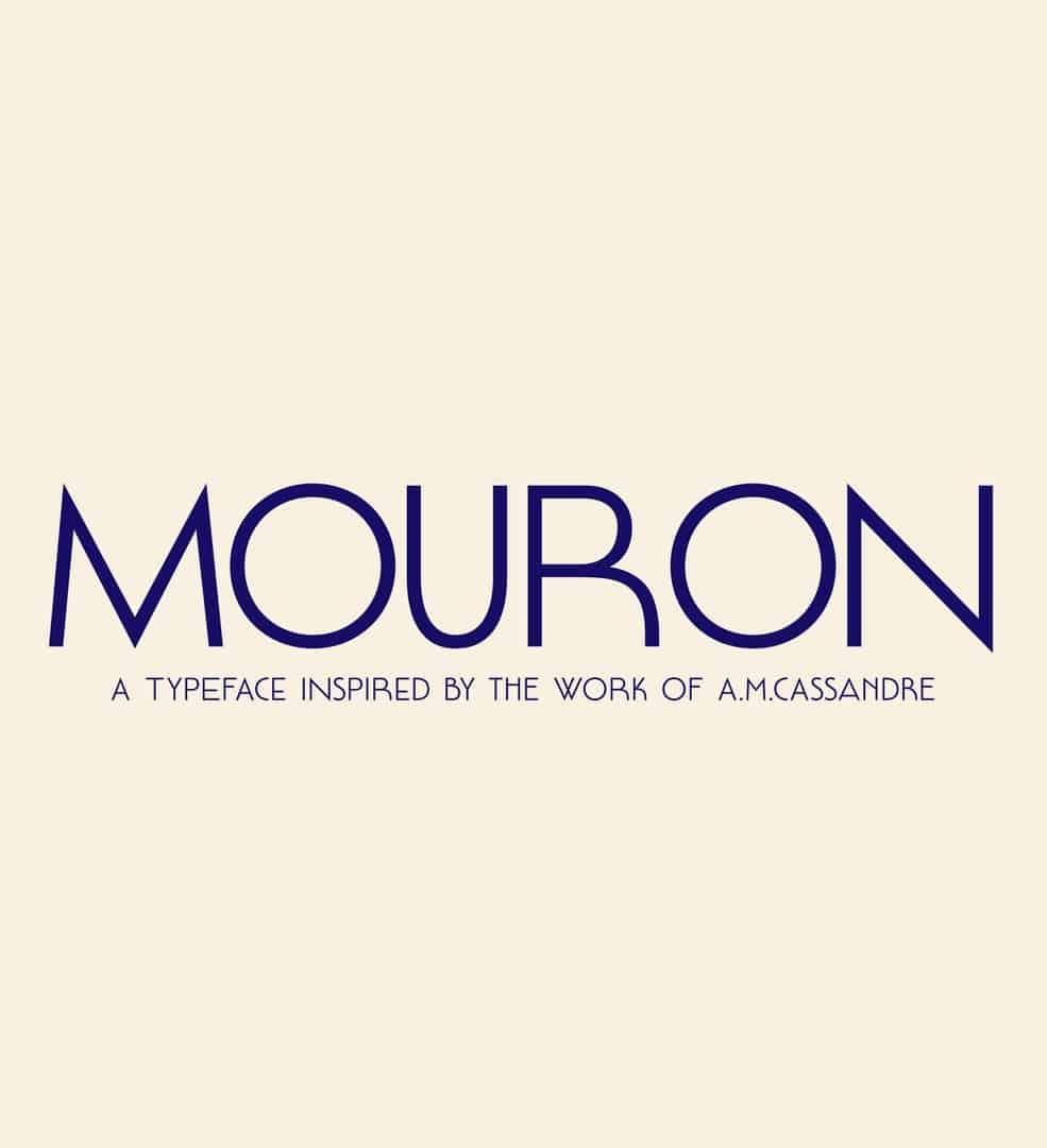 Mouron шрифт скачать бесплатно