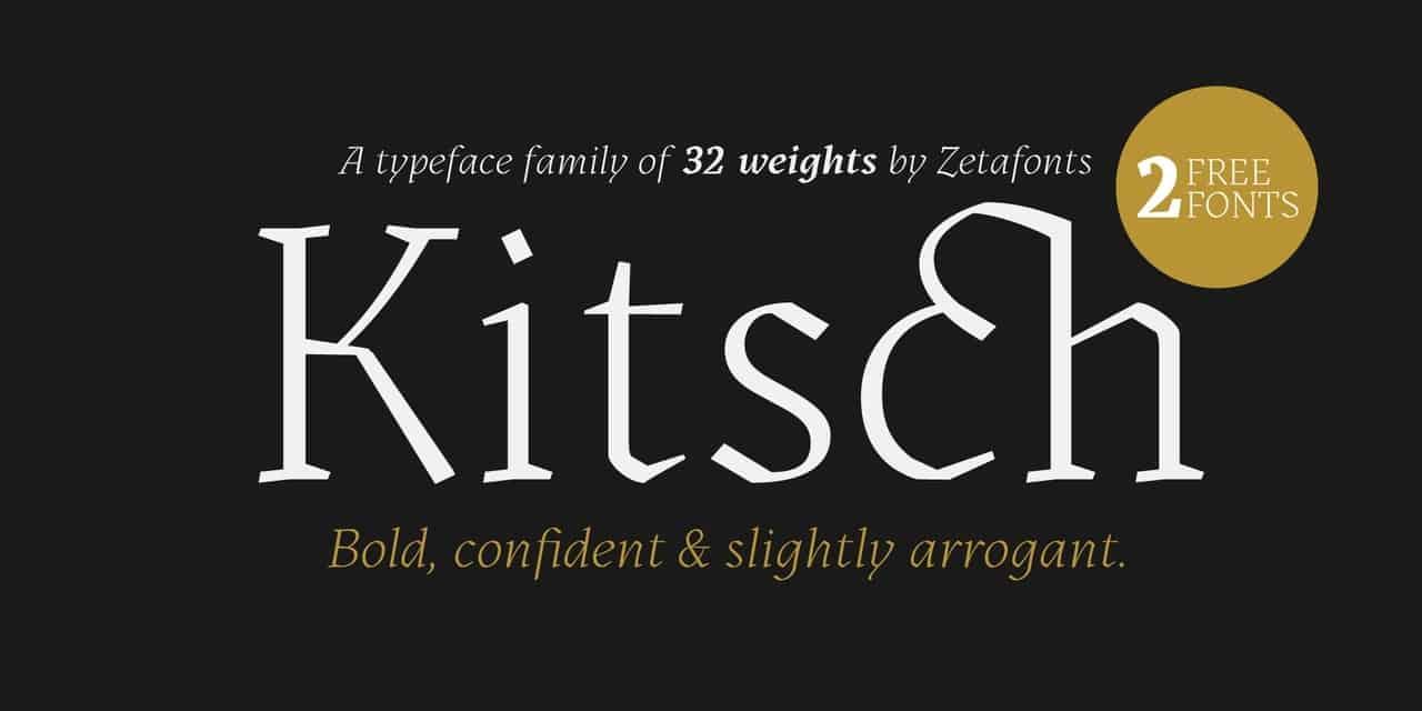 Kitsch шрифт скачать бесплатно