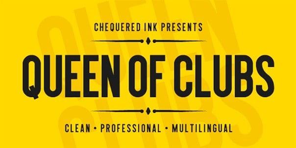 Queen of clubs шрифт скачать бесплатно