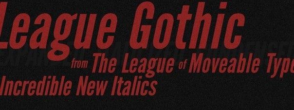 League Gothic шрифт скачать бесплатно
