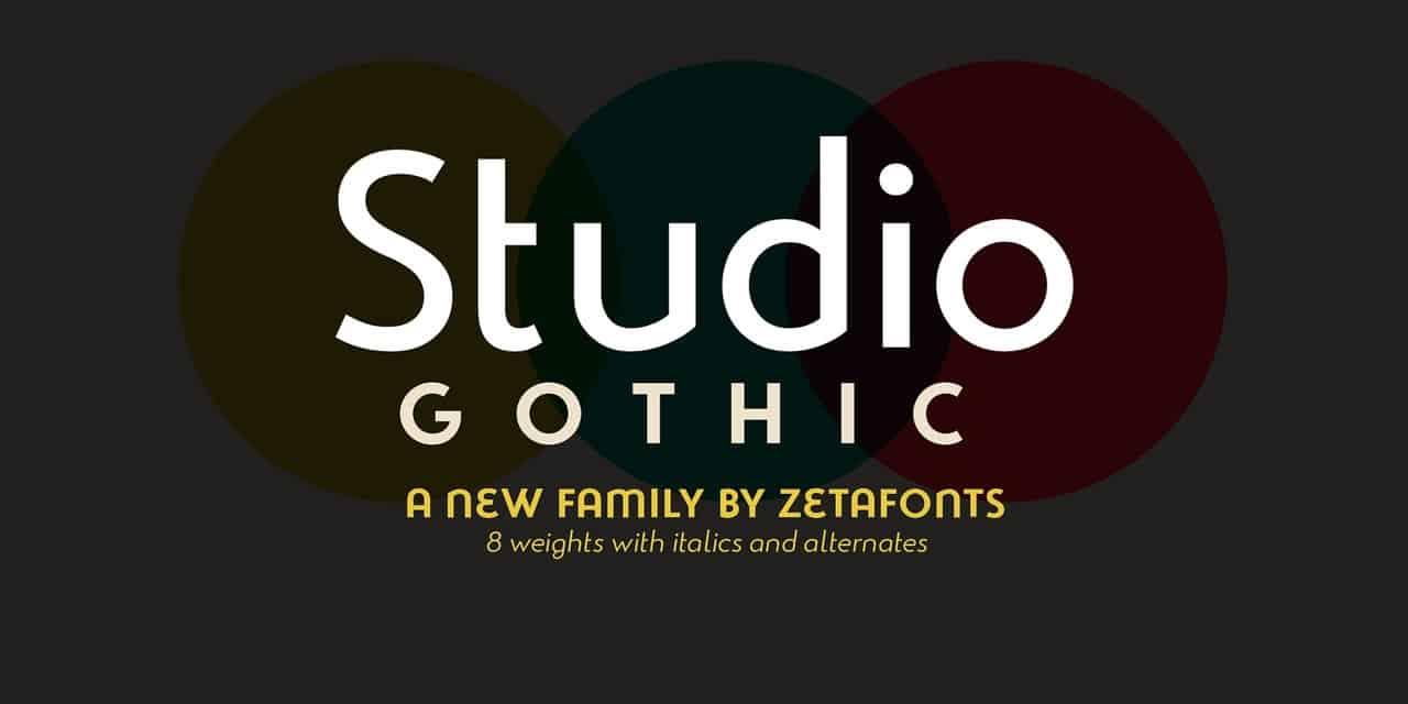 Studio Gothic шрифт скачать бесплатно