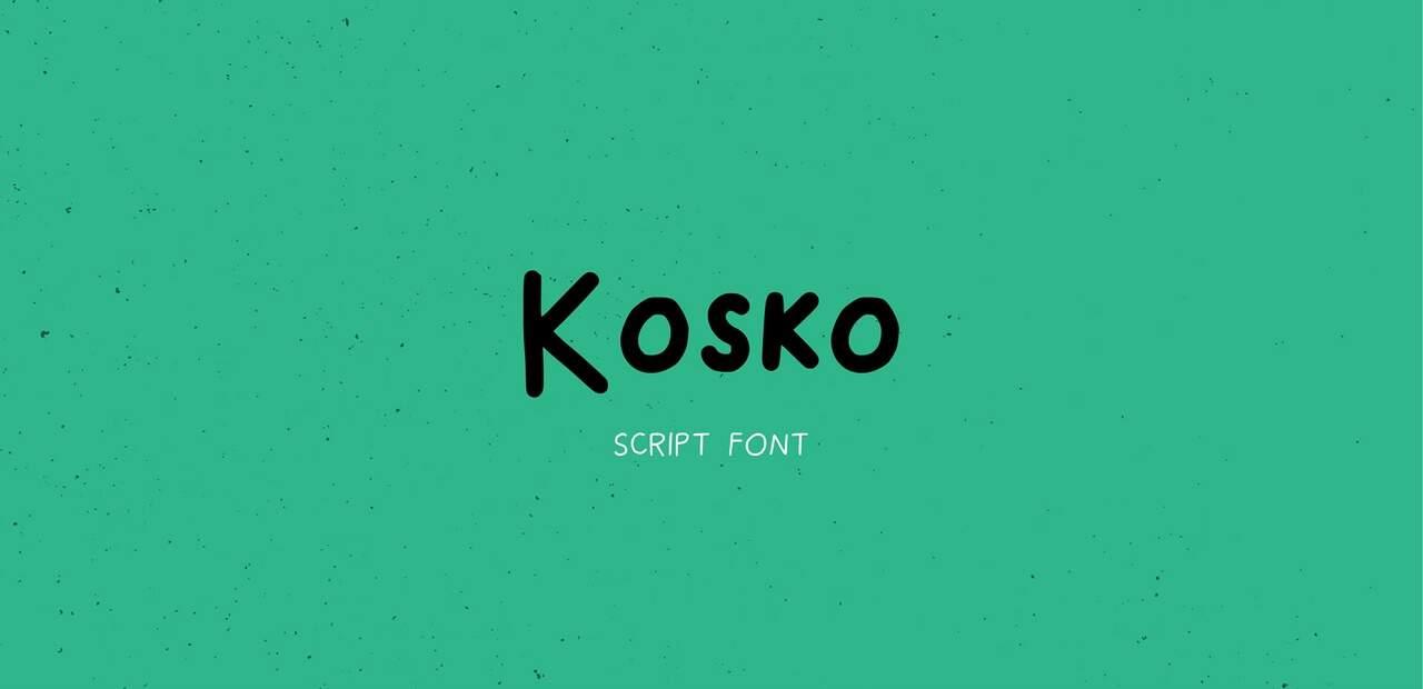 kosko шрифт скачать бесплатно