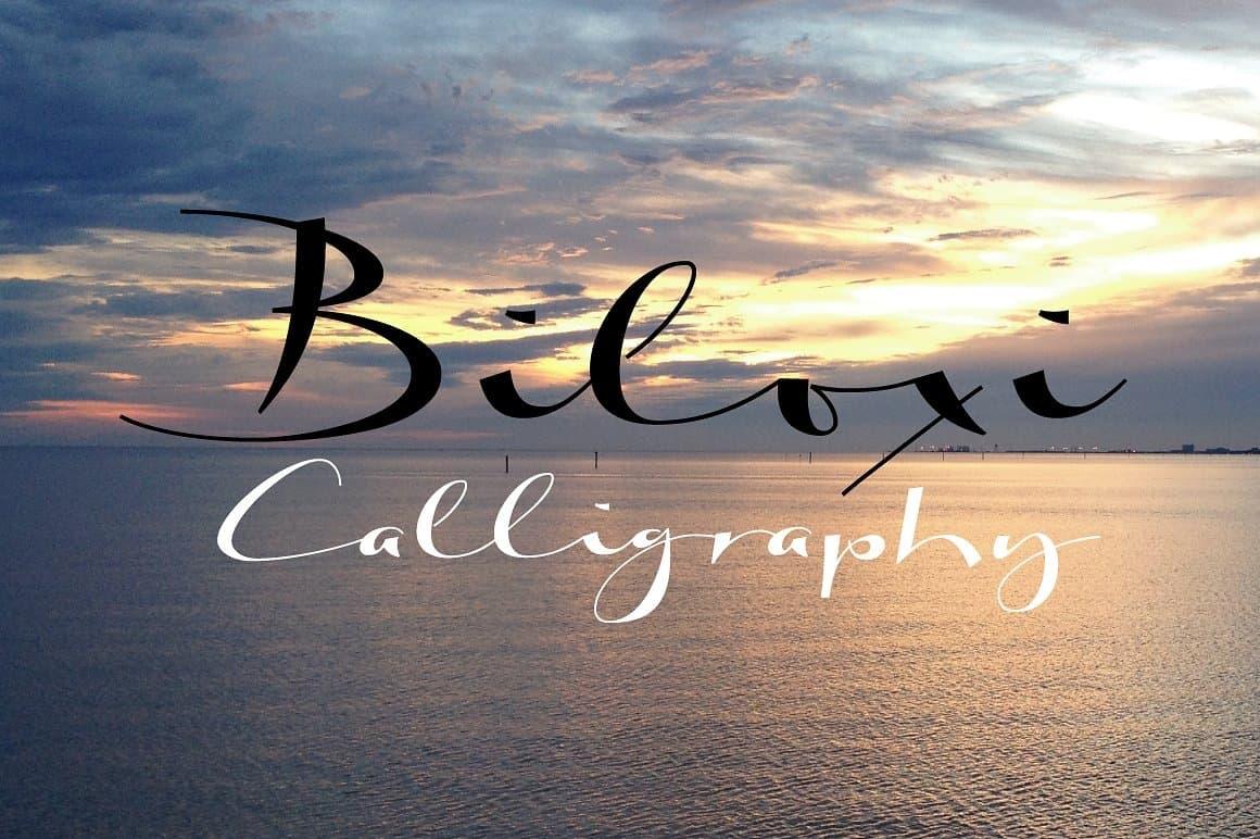 Biloxi calligraphy шрифт скачать бесплатно