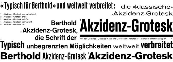 Akzidenz Grotesk 1966 Günter Gerhard Lange шрифт скачать бесплатно