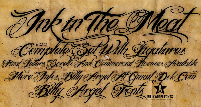 25 шикарных шрифтов для татуировки шрифт скачать бесплатно