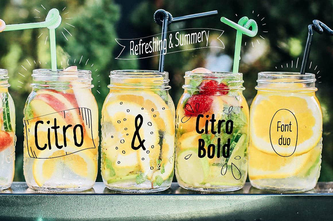 Citro & Citro Bold шрифт скачать бесплатно