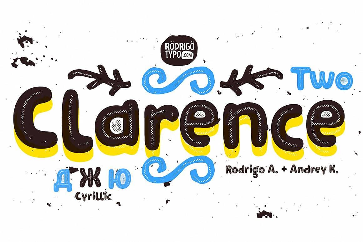 Clarence Two шрифт скачать бесплатно