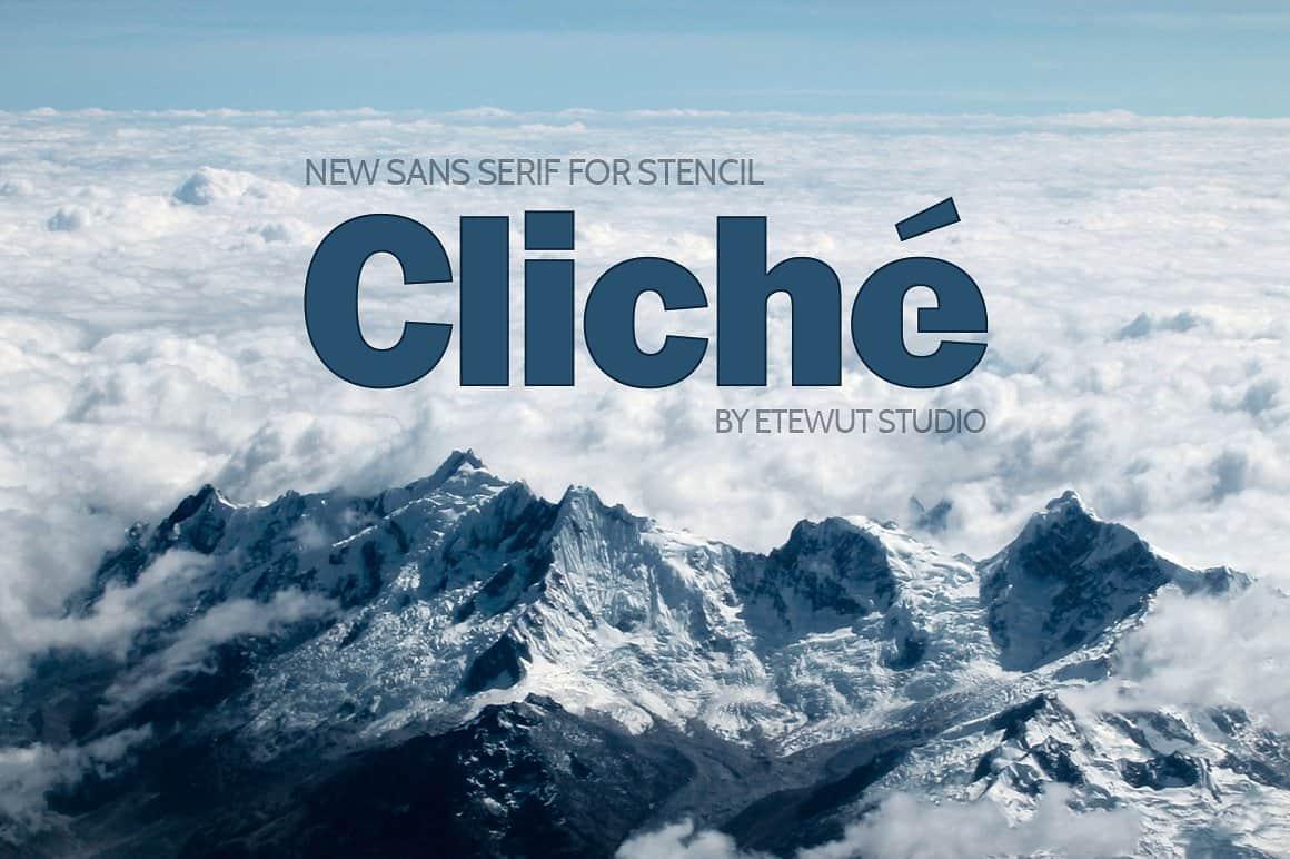 Cliché шрифт скачать бесплатно