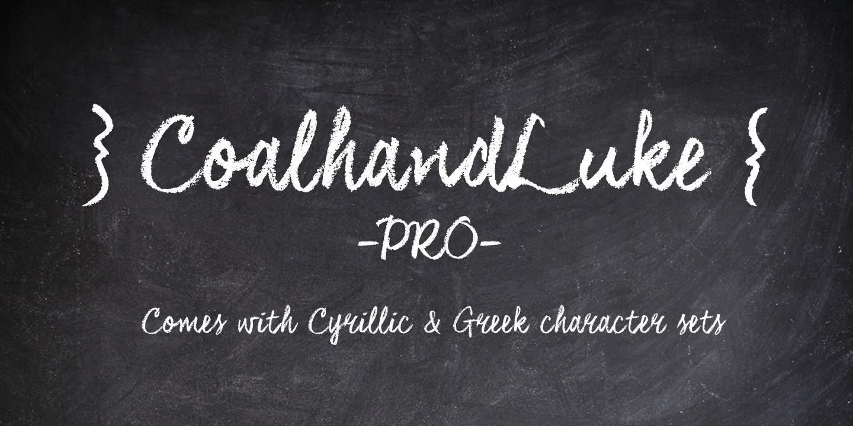 CoalhandLuke шрифт скачать бесплатно