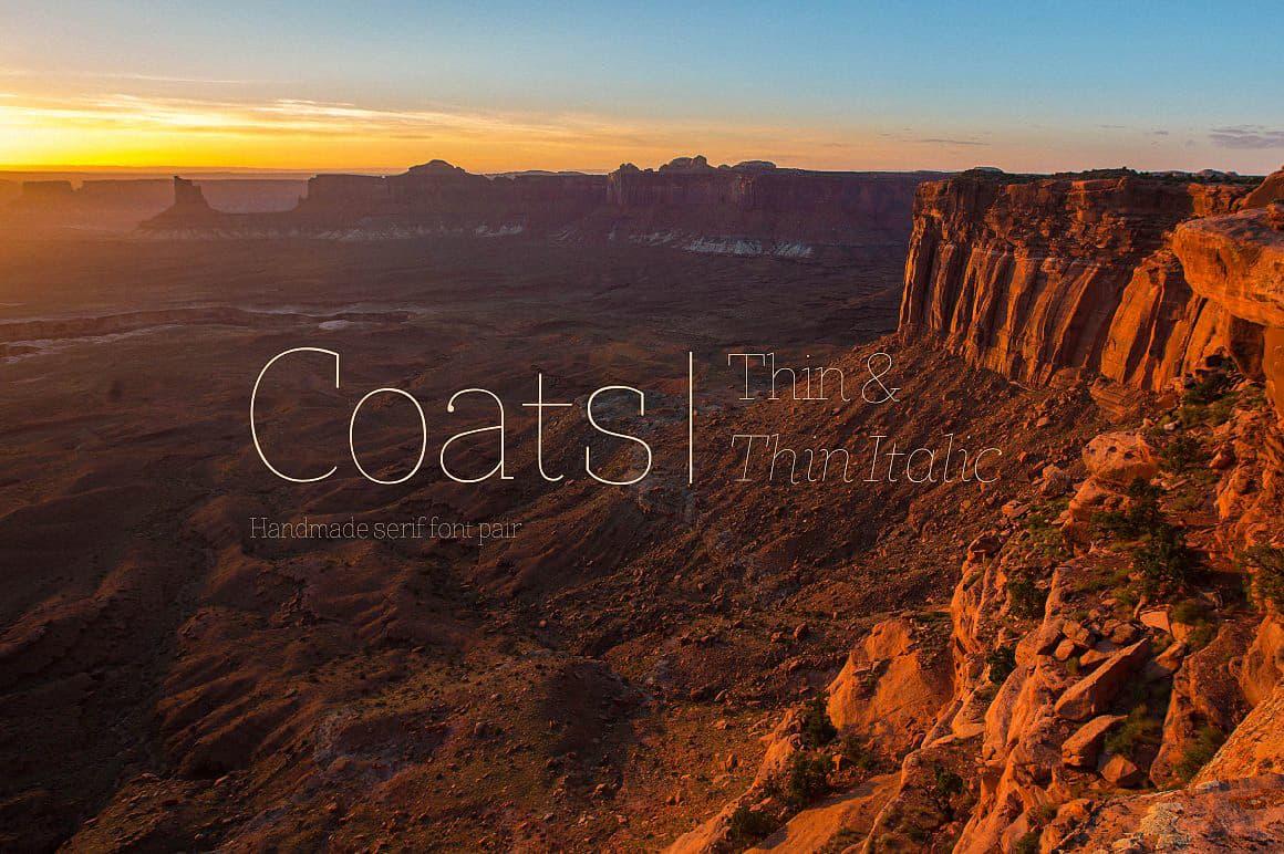 Coats Thin & Coats Thin Italic шрифт скачать бесплатно
