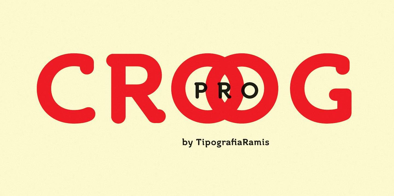Croog Pro шрифт скачать бесплатно