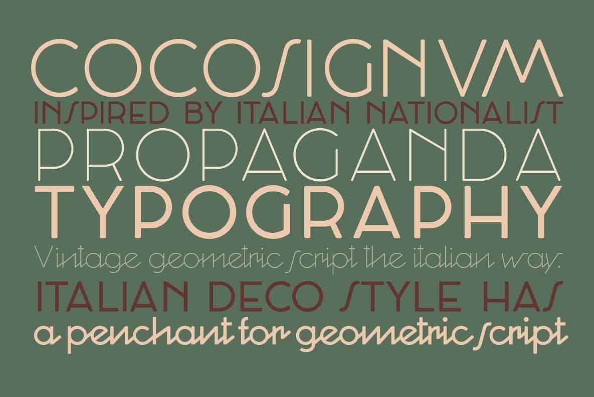 Cocosignum шрифт скачать бесплатно