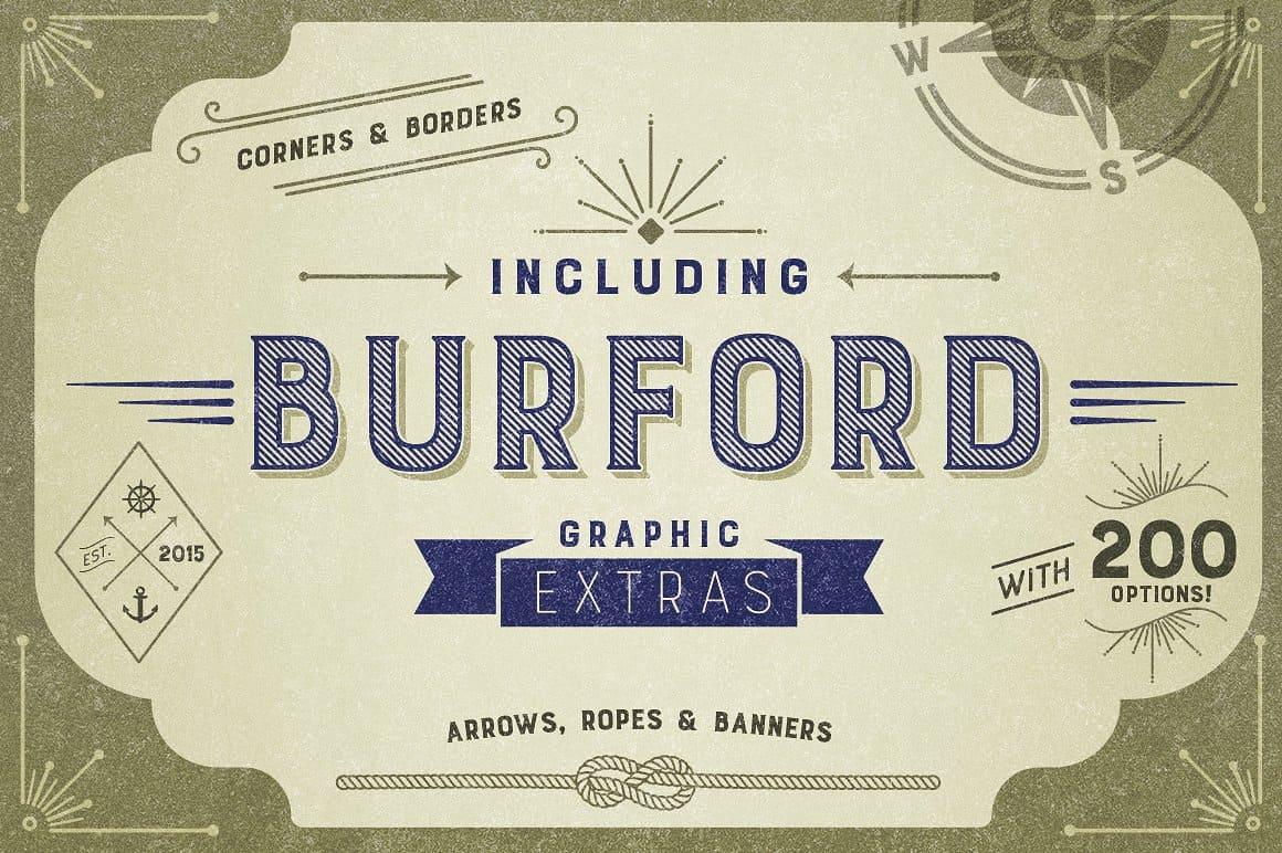 Burford Pro Pack шрифт скачать бесплатно