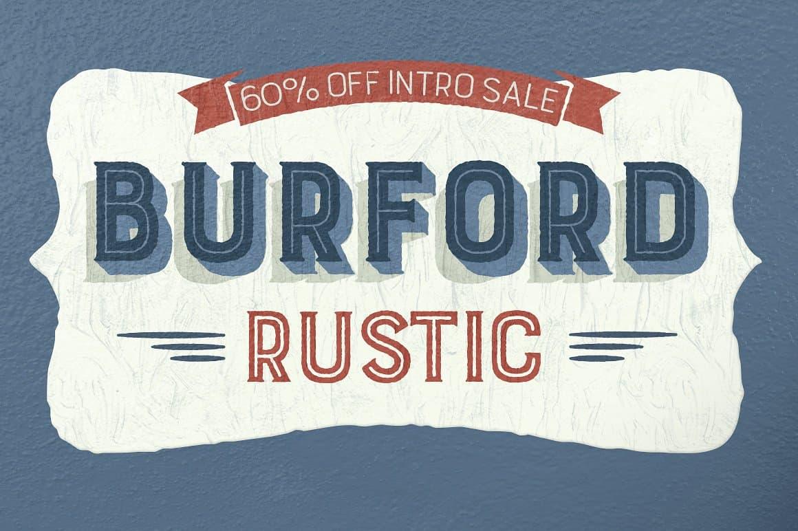 Burford Rustiс шрифт скачать бесплатно