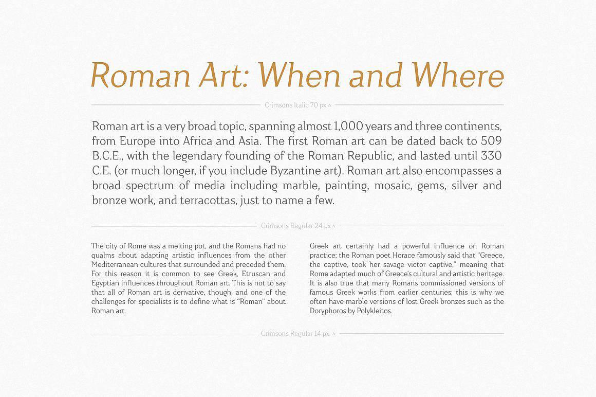 Crimsons — Regular & Italic шрифт скачать бесплатно