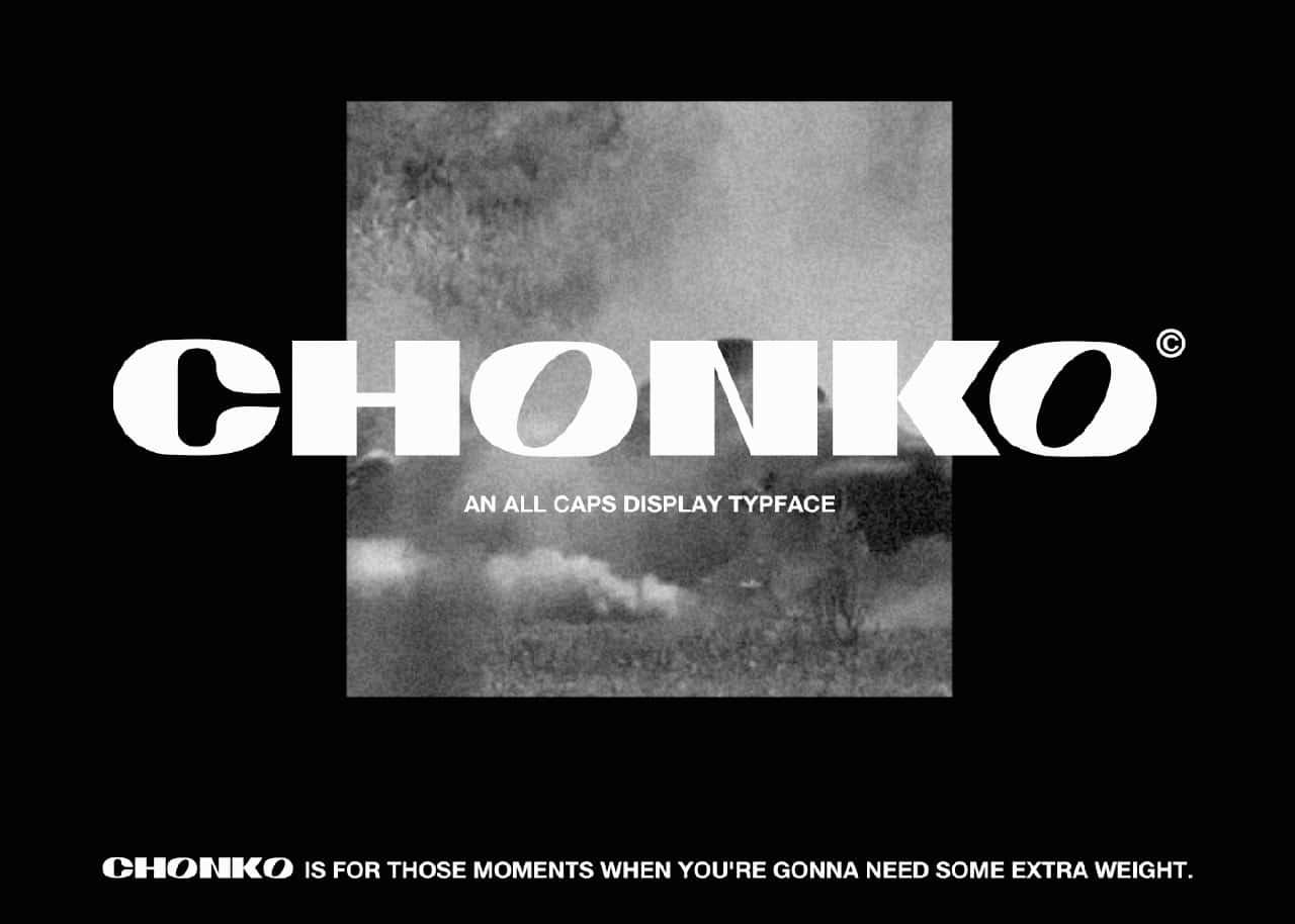 Chonko шрифт скачать бесплатно