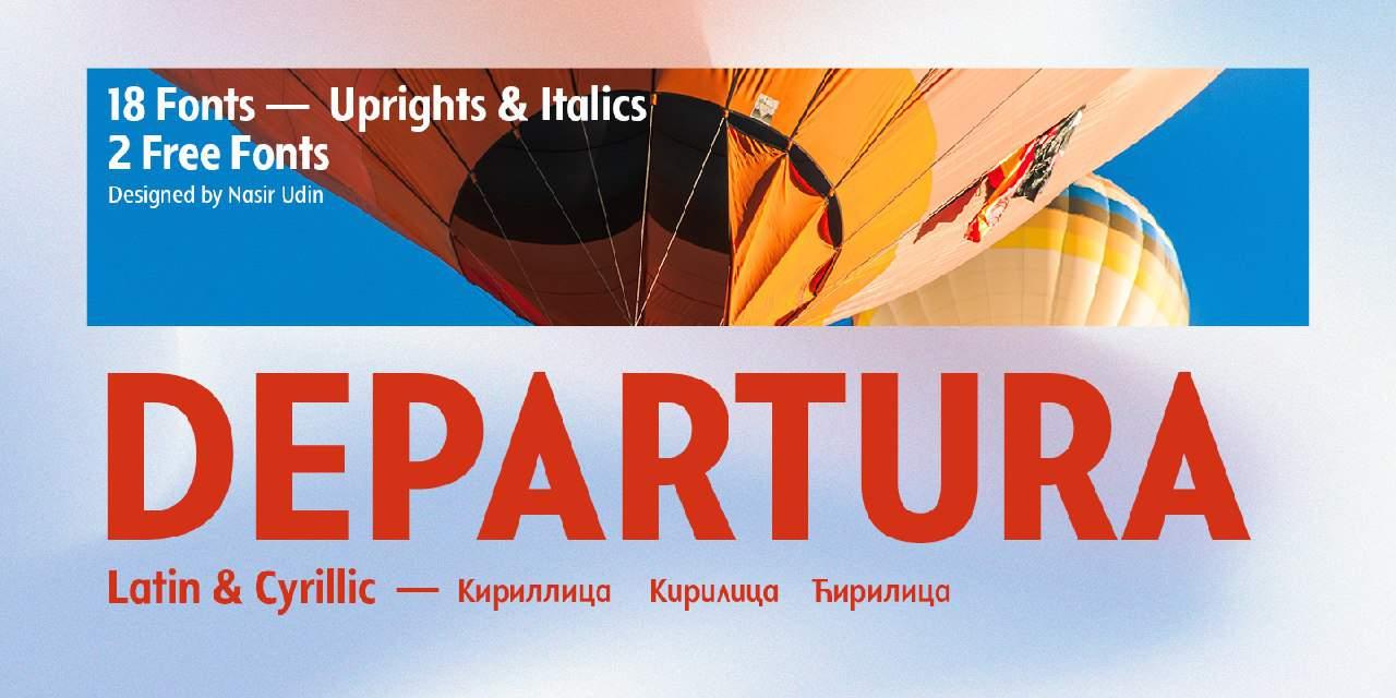 Departura шрифт скачать бесплатно