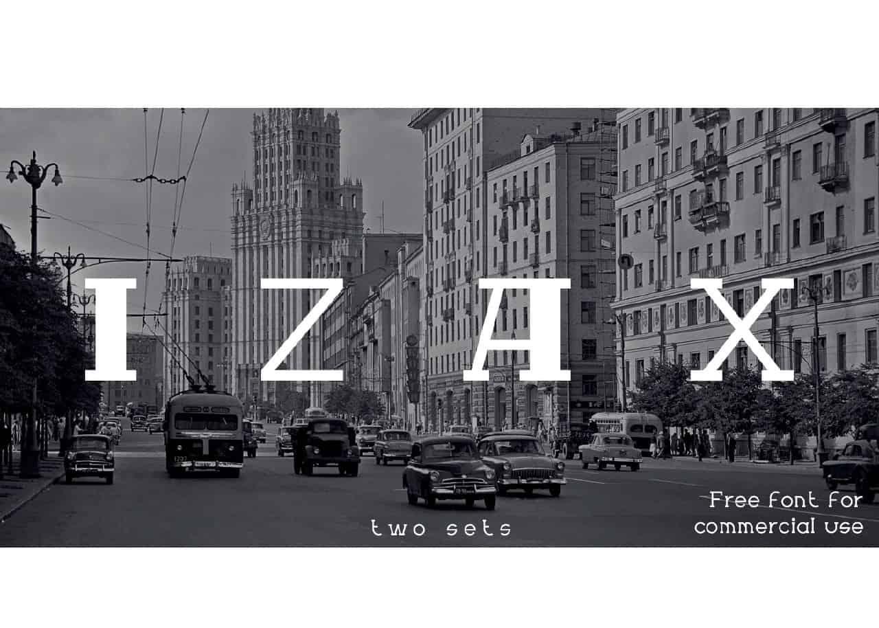 Izax шрифт скачать бесплатно