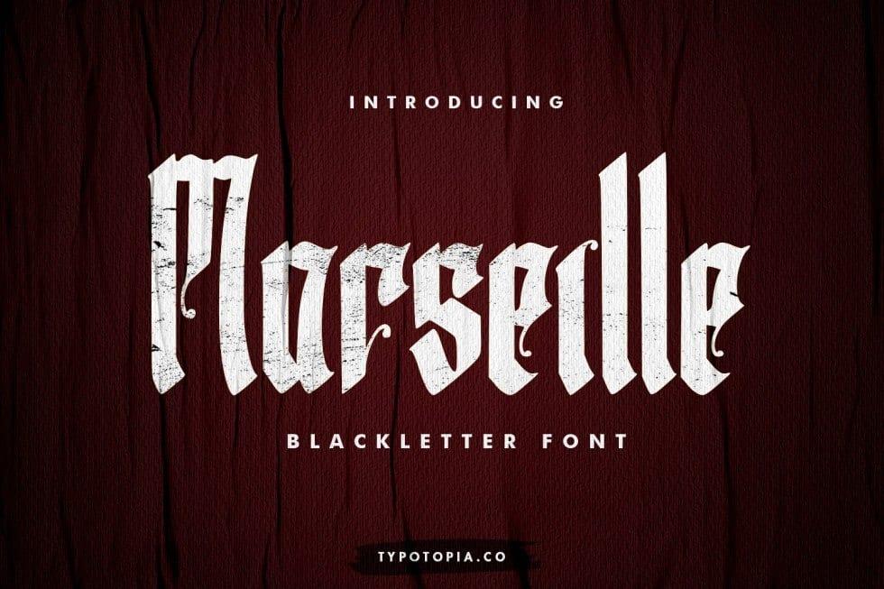 Marseille шрифт скачать бесплатно