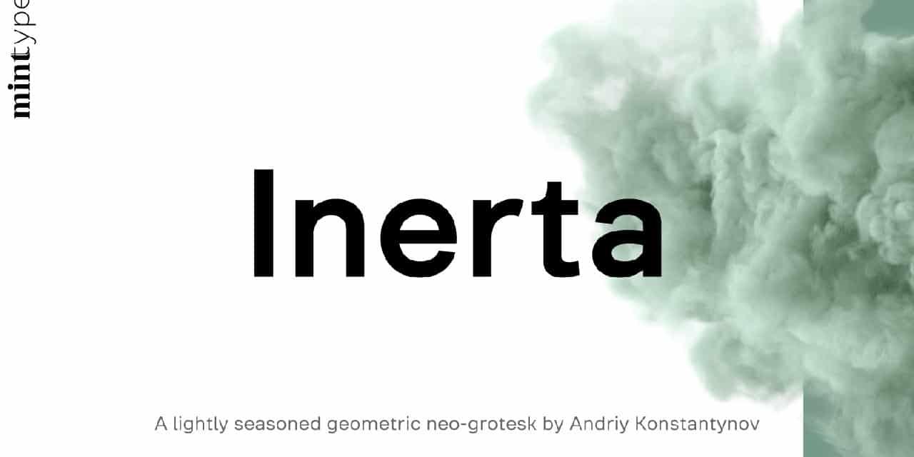 Inerta Light шрифт скачать бесплатно