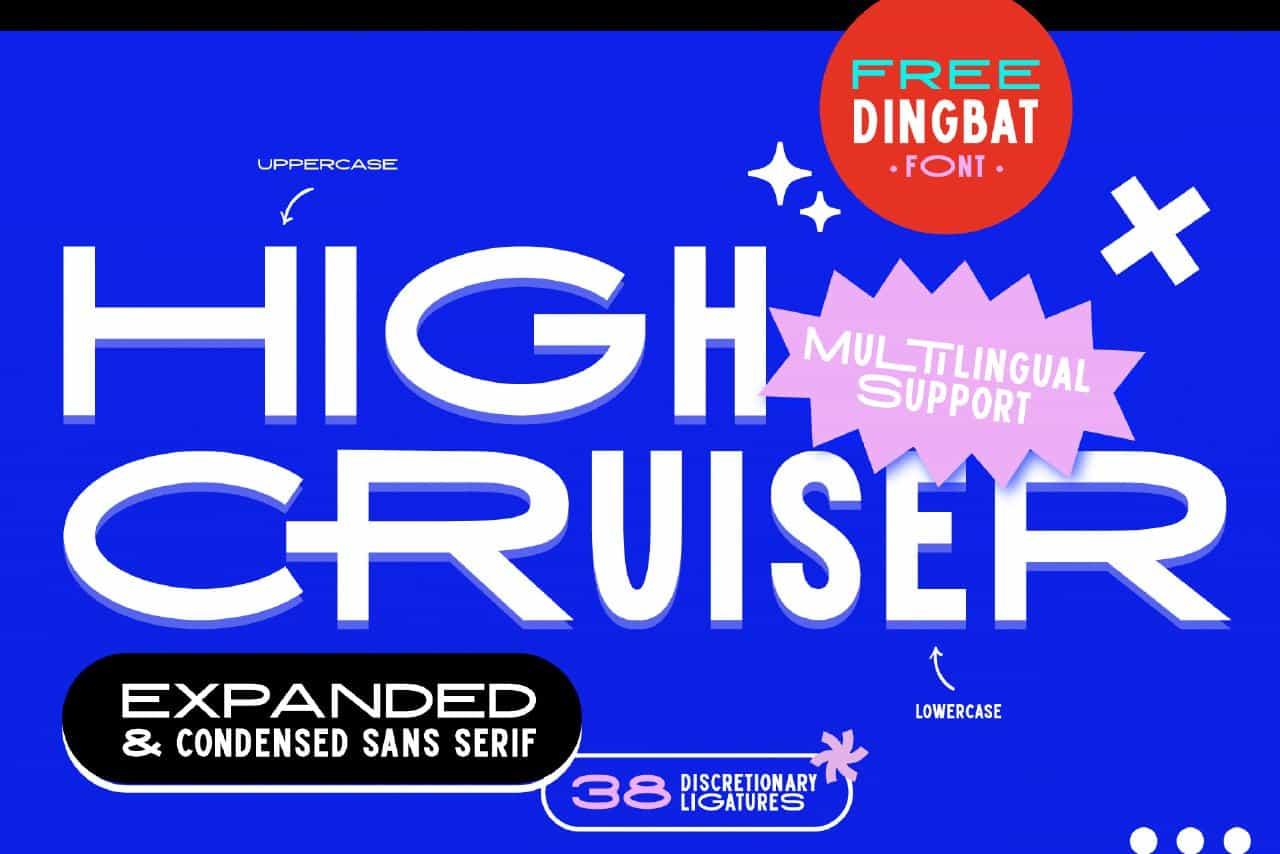 High Cruiser шрифт скачать бесплатно