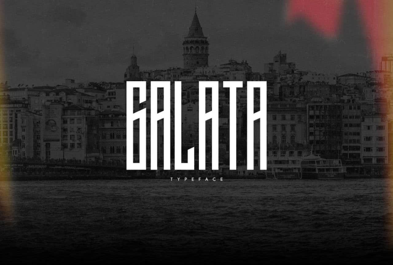 Galata шрифт скачать бесплатно