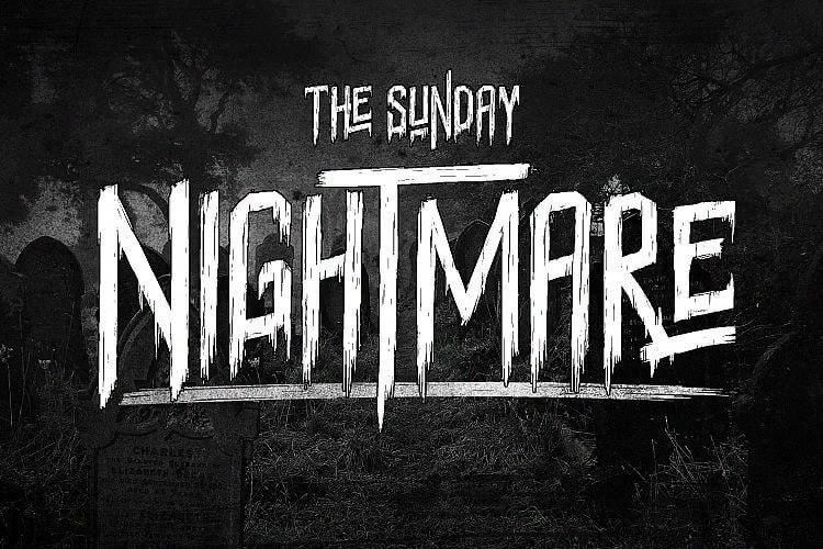 The Sunday Nightmare шрифт скачать бесплатно