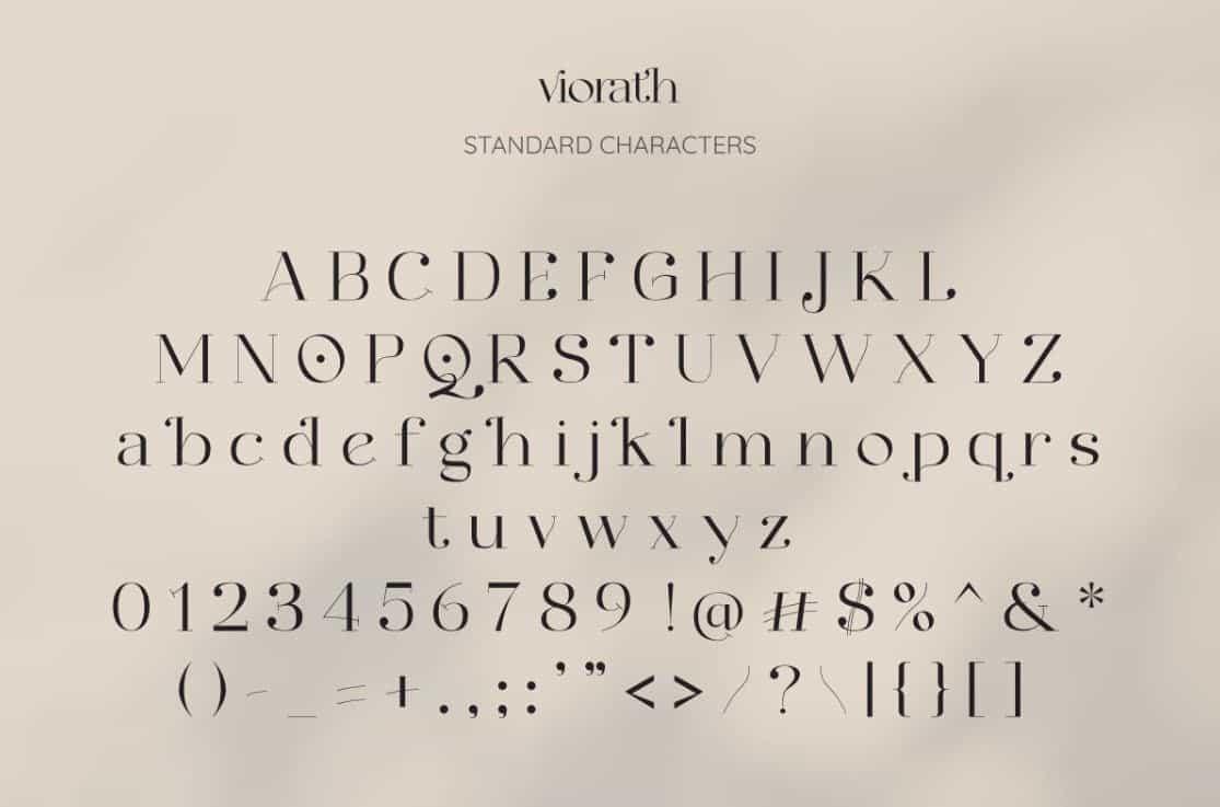Viorath шрифт скачать бесплатно
