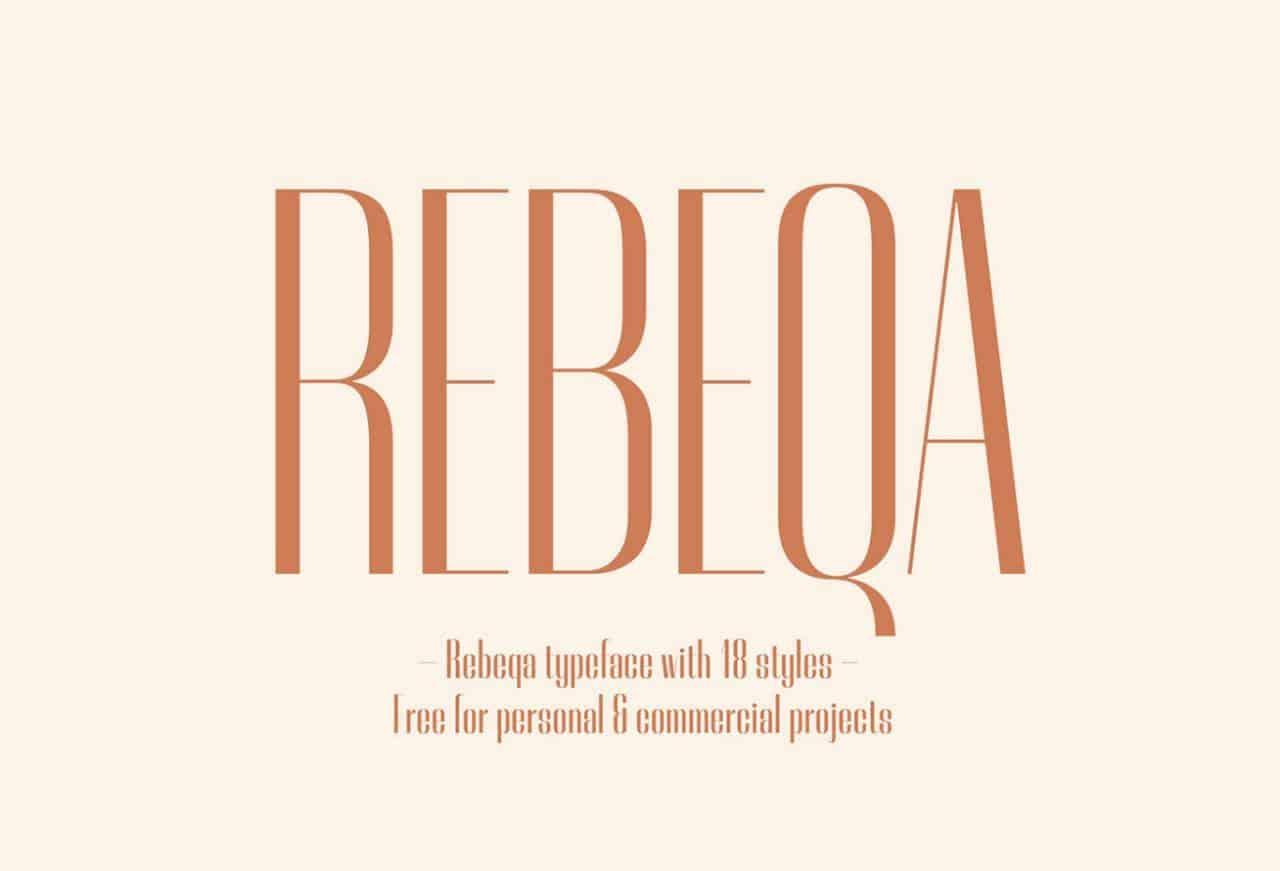 Rebeqa шрифт скачать бесплатно