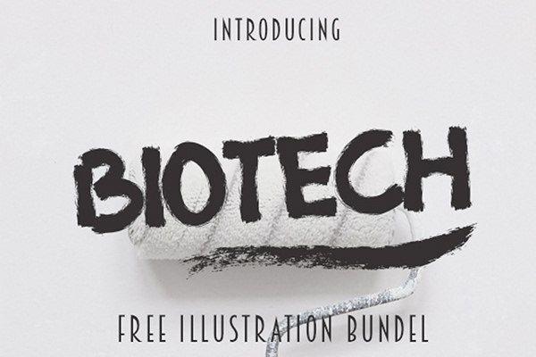 Biotech шрифт скачать бесплатно